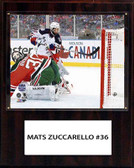 "NHL 12""x15"" Mats Zuccarello New York Rangers Player Plaque"