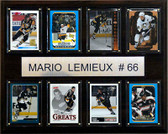 "NHL 12""x15"" Mario Lemieux Pittsburgh Penguins 8 Card Plaque"