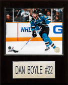 "NHL 12""x15"" Dan Boyle San Jose Sharks Player Plaque"