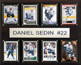 "NHL 12""x15"" Daniel Sedin Vancouver Canucks 8-Card Plaque"