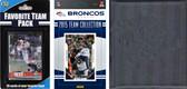 NFL Denver Broncos Licensed 2015 Score Team Set and Favorite Player Trading Card Pack Plus Storage Album