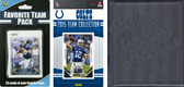 NFL Indianapolis Colts Licensed 2015 Score Team Set and Favorite Player Trading Card Pack Plus Storage Album