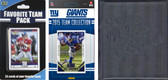 NFL New York Giants Licensed 2015 Score Team Set and Favorite Player Trading Card Pack Plus Storage Album