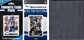 NFL Seattle Seahawks Licensed 2015 Score Team Set and Favorite Player Trading Card Pack Plus Storage Album