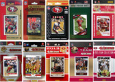 NFL San Francisco 410ers 10 Different Licensed Trading Card Team Sets