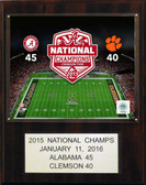 "NCAA Football 12""x15"" Alabama Crimson Tide 2015 National Champions Plaque"