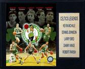 """NBA 12""""x15"""" Celtics Big 5 Legends Plaque"""