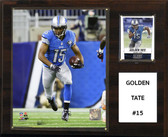 "NFL 12""x15"" Golden Tate Detroit Lions Player Plaque"