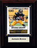 "NFL 4""x6"" Antonio Brown Pittsburgh Steelers Player Plaque"