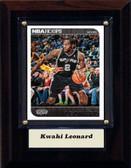 """NBA 4""""x6"""" Kwahi Leonard San Antonio Spurs Player Plaque"""