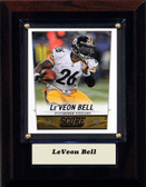"NFL 4""x6"" LeVeon Bell Pittsburgh Steelers Player Plaque"