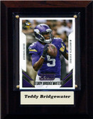"NFL 4""x6"" Teddy Bridgewater Minnesota Vikings Player Plaque"