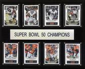 """NFL 12""""x15"""" New England Patriots Super Bowl 50 - 8-Card Plaque"""
