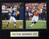 """NFL16""""x20"""" Payton Manning Two Photos Plaque"""