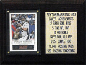 6 x 8 Payton Manning Denver Broncos Career Stat Plaque