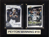6 x 8 Payton Manning Two Cards Colts Plaque