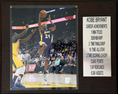 12x 15 Kobe Bryant Career Stat Plaque