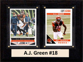 "NFL 6""X8"" A.J. Green Cincinnati Bengals Two Card Plaque"