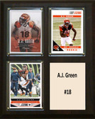 "NFL 8""x10"" A.J. Green Cincinnati Bengals Three Card Plaque"