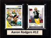 "NFL 6""X8"" Aaron Rodgers Green Bay Packers Two Card Plaque"