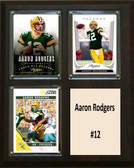"NFL 8""x10"" Aaron Rodgers Greenbay Packers Three Card Plaque"