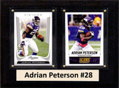 "NFL 6""X8"" Adrian Peterson Minnesota Vikings Two Card Plaque"