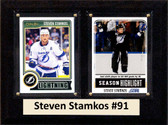 "NHL 6""X8"" Steven Stamkos Tampa Bay Lighting Two Card Plaque"