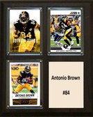 "NFL 8""x10"" Antonio Brown Pittsburgh Steelers Three Card Plaque"