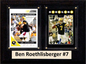 "NFL 6""X8"" Ben Roethlisberger Pittsburgh Steelers Two Card Plaque"
