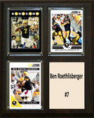 "NFL 8""x10"" Ben Roethlisberger Pittsburgh Steelers Three Card Plaque"