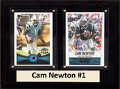 "NFL 6""X8"" Cam Newton Carolina Panthers Two Card Plaque"