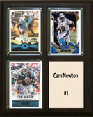 "NFL 8""x10"" Cam Newton Carolina Panthers Three Card Plaque"