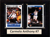 "NBA 6""X8"" Carmelo Anthony New York Knicks Two Card Plaque"
