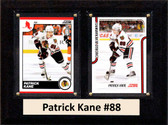 "NHL 6""X8"" Patrick Kane Chicago Blackhawks Two Card Plaque"