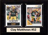 "NFL 6""X8"" Clay Matthews Green Bay Packers Two Card Plaque"