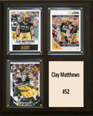 "NFL 8""x10"" Clay Matthews Greenbay Packers Three Card Plaque"