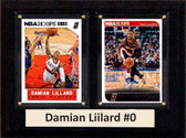 "NBA 6""X8"" Damian Liilard Portland Trailblazers Two Card Plaque"
