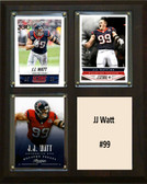 "NFL 8""x10"" JJ Watt Houston Texans Three Card Plaque"