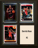 "NBA 8""x10"" Derrick Rose Chicago Bulls Three Card Plaque"