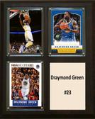 """NBA 8""""x10"""" Draymond Green Golden State Warriors Three Card Plaque"""