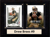 "NFL 6""X8"" Drew Brees New Orleans Saints Two Card Plaque"