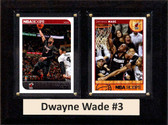 "NBA 6""X8"" Dwayne Wade Miami Heat Two Card Plaque"