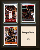 "NBA 8""x10"" Dwayne Wade Miami Heat Three Card Plaque"
