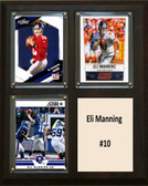 "NFL 8""x10"" Eli Manning New York Giants Three Card Plaque"