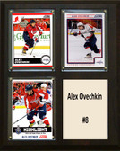 "NHL 8""x10"" Alex Ovechkin Washington Captials Three Card Plaque"