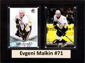 "NHL 6""X8"" Evgeni Malkin Pittsburgh Penguins Two Card Plaque"