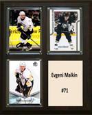 "NHL 8""x10"" Evgeni Malkin Pittsburgh Penguins Three Card Plaque"
