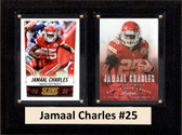 "NFL 6""X8"" Jamaal Charles Kansas City Chiefs Two Card Plaque"