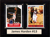 "NBA 6""X8"" James Harden Houston Rockets Two Card Plaque"