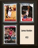 "NBA 8""x10"" James Harden Houston Rockets Three Card Plaque"